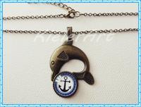 Halskette - Delphin- mit Ankermotiv
