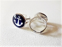 Versilberter Ring - Marines -