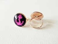 Rose vergoldeter Ring - Maybe - verstellbar
